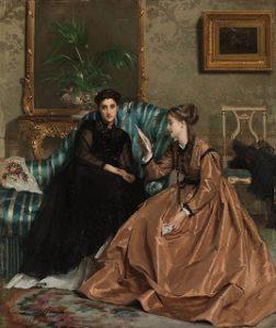 859px-Gustave_Léonard_de_Jonghe_Der_Liebesbrief_1867